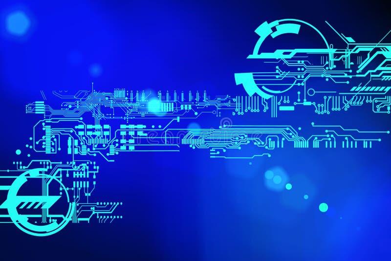 Fondo cibernético futurista abstracto de la tecnología Diseño de circuito de la ciencia ficción Tecnología de alta tecnología Con stock de ilustración