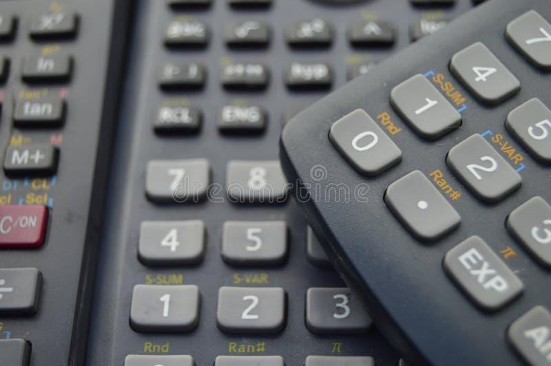 fondo científico electrónico de las calculadoras fotos de archivo libres de regalías