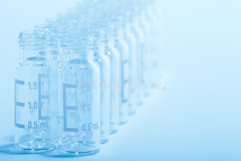 Fondo científico - frascos de cristal fotos de archivo libres de regalías