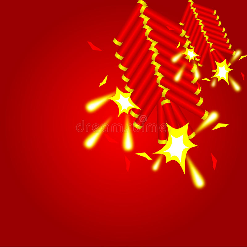 Fondo cinese del cracker illustrazione vettoriale