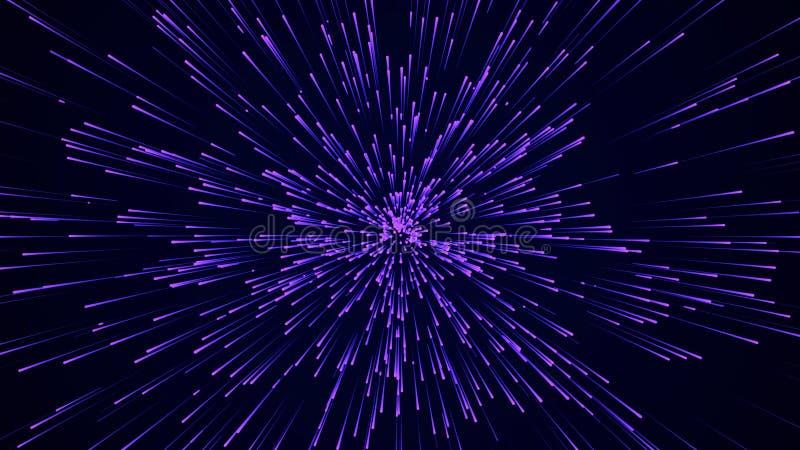 Fondo circolare astratto di velocit? Linee dinamiche modello di Starburst Fondo astratto di flusso di dati rappresentazione 3d fotografie stock libere da diritti