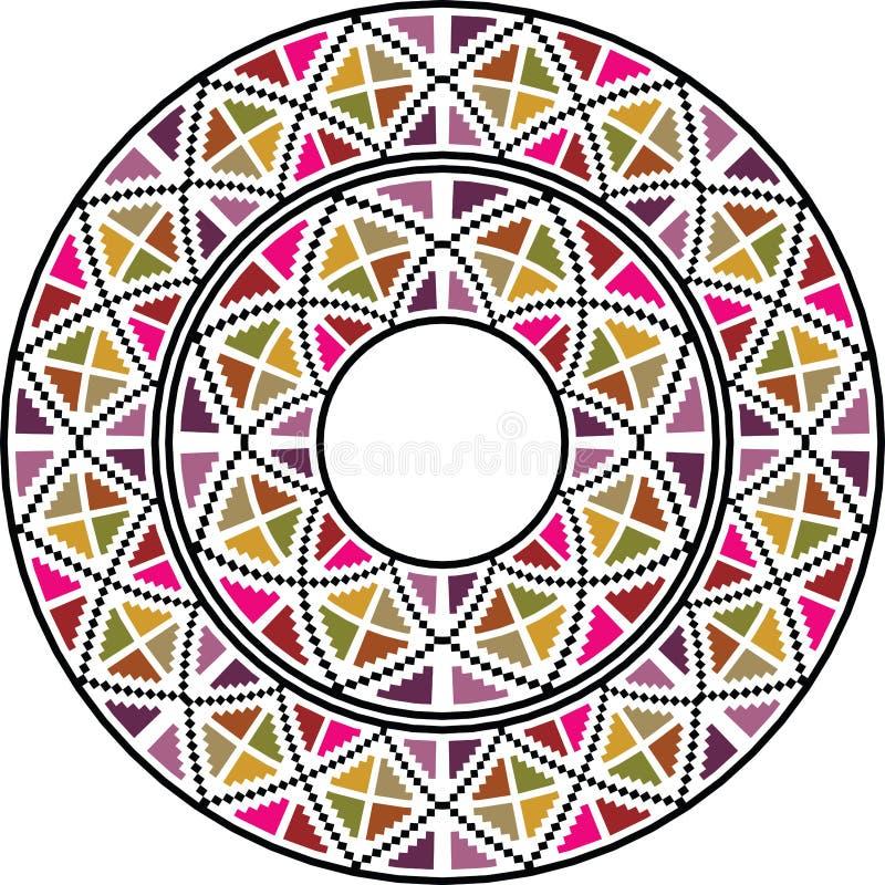 Fondo circular abstracto stock de ilustración