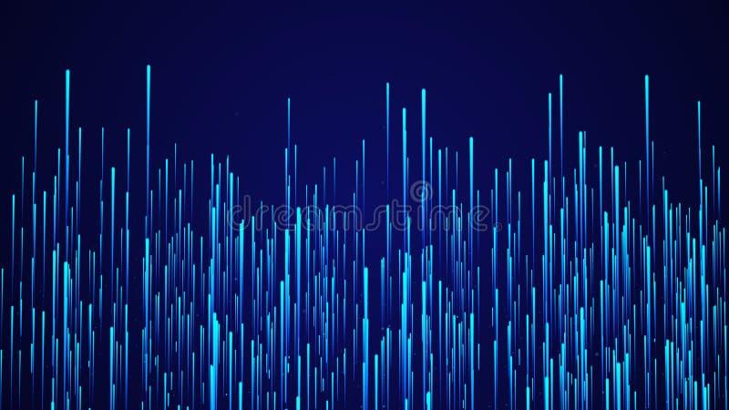 Fondo circular abstracto de la velocidad L?neas din?micas modelo de Starburst Fondo abstracto del flujo de datos representaci?n 3 ilustración del vector