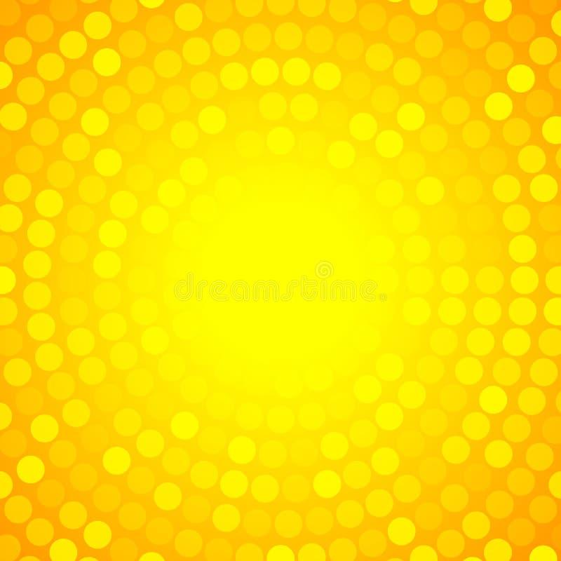 Fondo circular anaranjado abstracto de la tecnología,