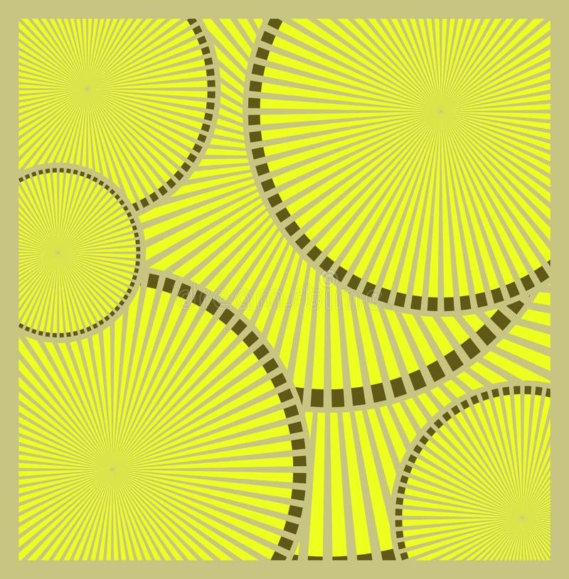 Fondo circular anaranjado abstracto de la tecnología, ejemplo del vector libre illustration