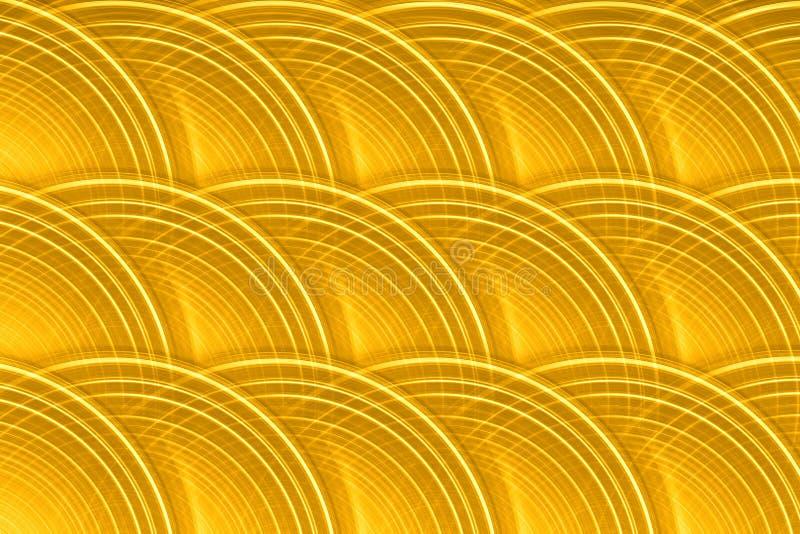 Fondo circular del disco del oro imagenes de archivo