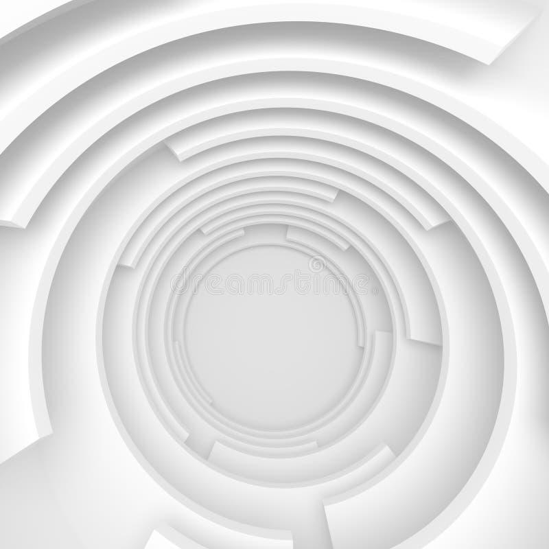 Fondo circular del edificio Concepto blanco de la tarjeta de visita stock de ilustración