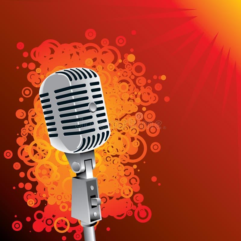 Fondo clásico del micrófono stock de ilustración