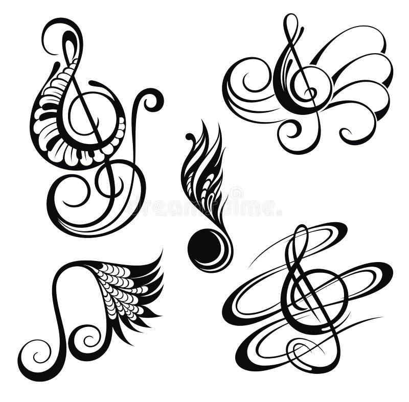 Fondo cobarde de la música Ilustración del vector libre illustration