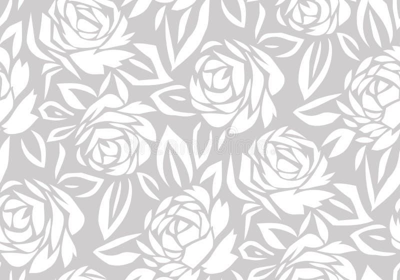 Fondo color de rosa de la flor del extracto inconsútil stock de ilustración