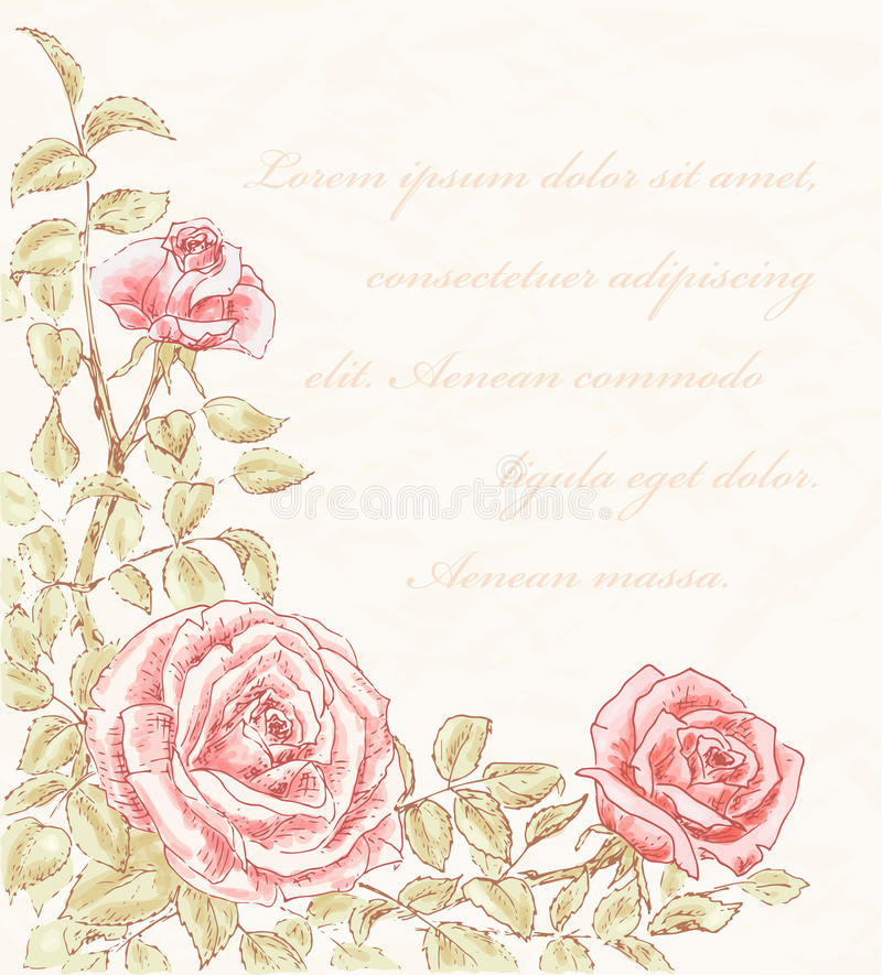 Fondo color de rosa de la vendimia libre illustration