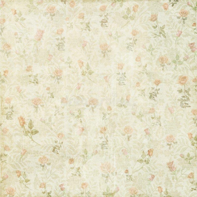 Fondo color de rosa floral del vintage lamentable imagen de archivo libre de regalías