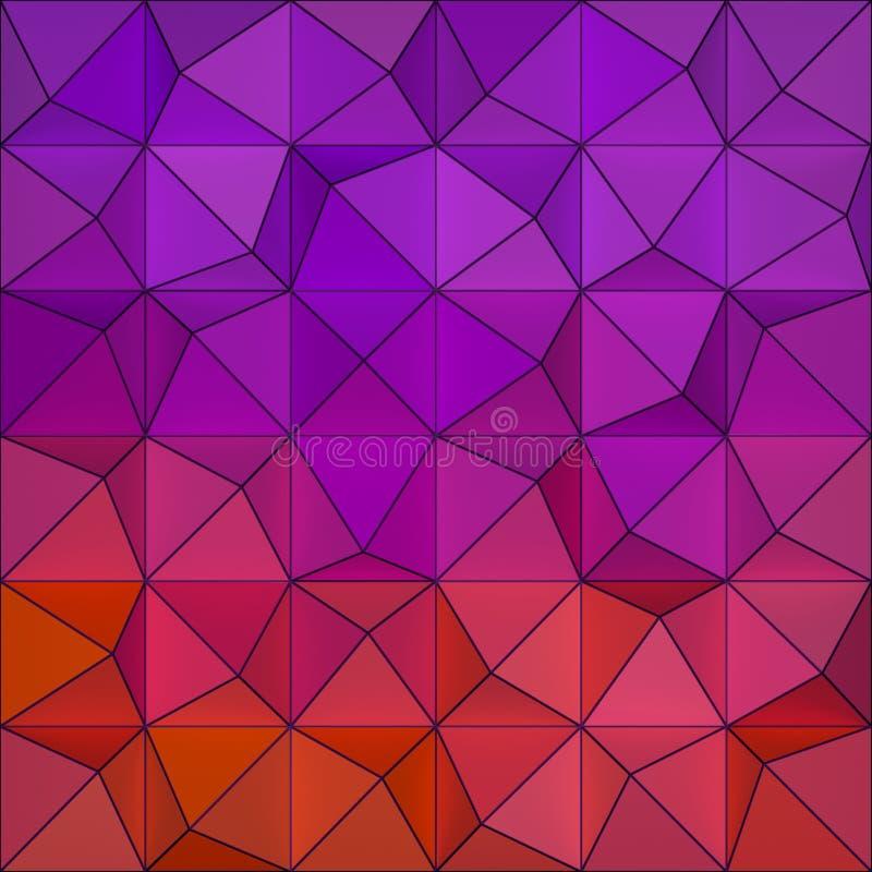 Fondo colorato dei triangels illustrazione di stock