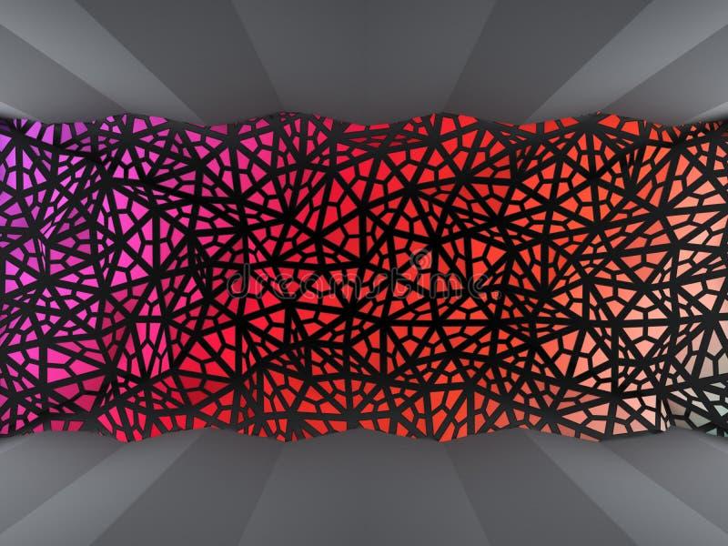 Fondo colorato dei triangoli illustrazione di stock