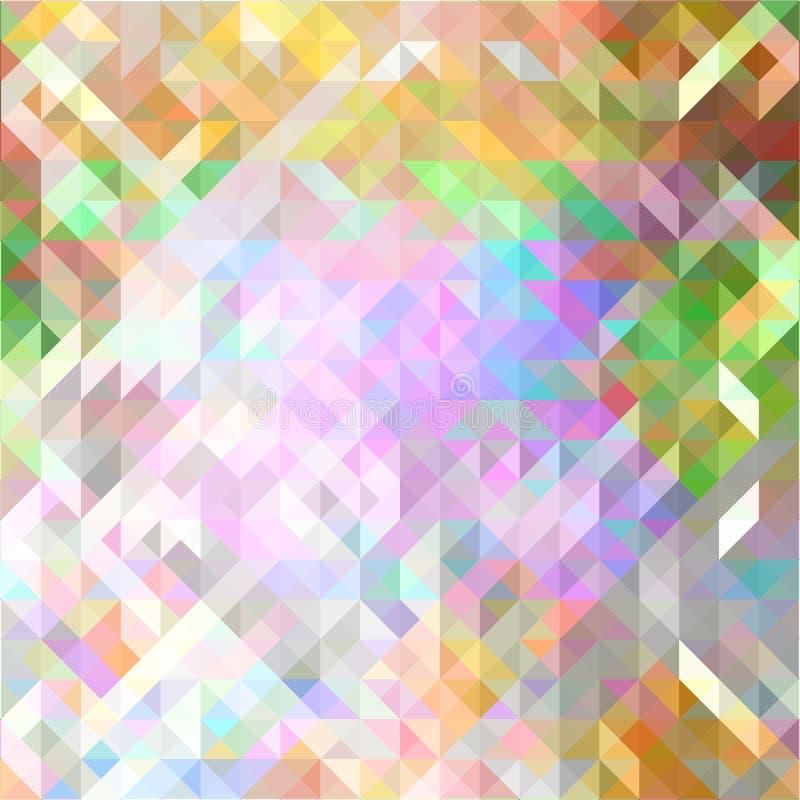 Fondo colorato geometrico di vettore dell'estratto multi illustrazione di stock