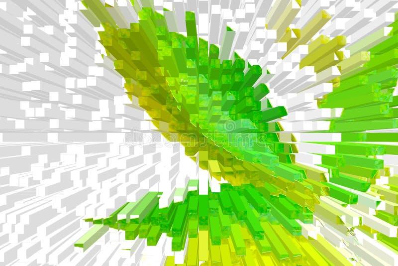 fondo colorato Multi, verde e bianco, bella astrazione del volume immagini stock libere da diritti