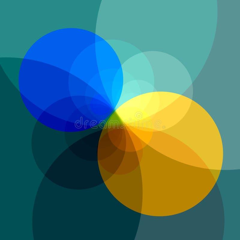 Fondo coloreado amarillo azul abstracto Dos diversos colores Espacio decorativo de la copia del fondo del diseño Imagen del arte  ilustración del vector