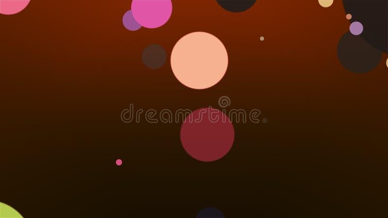 Fondo coloreado - composición abstracta stock de ilustración