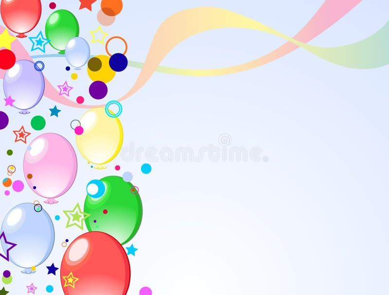 Fondo coloreado con los globos libre illustration