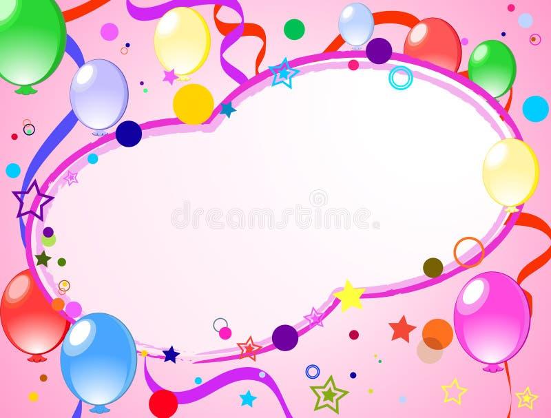 Fondo coloreado con los globos stock de ilustración