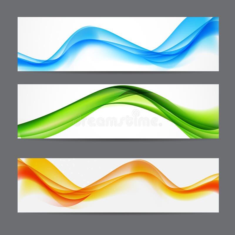 Fondo coloreado extracto del jefe de la onda Ilustración del vector stock de ilustración