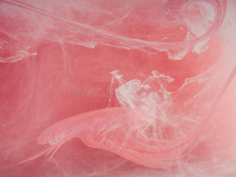 Fondo coloreado extracto Humo coloreado, tinta en agua, los modelos del universo Movimiento abstracto, congelado foto de archivo