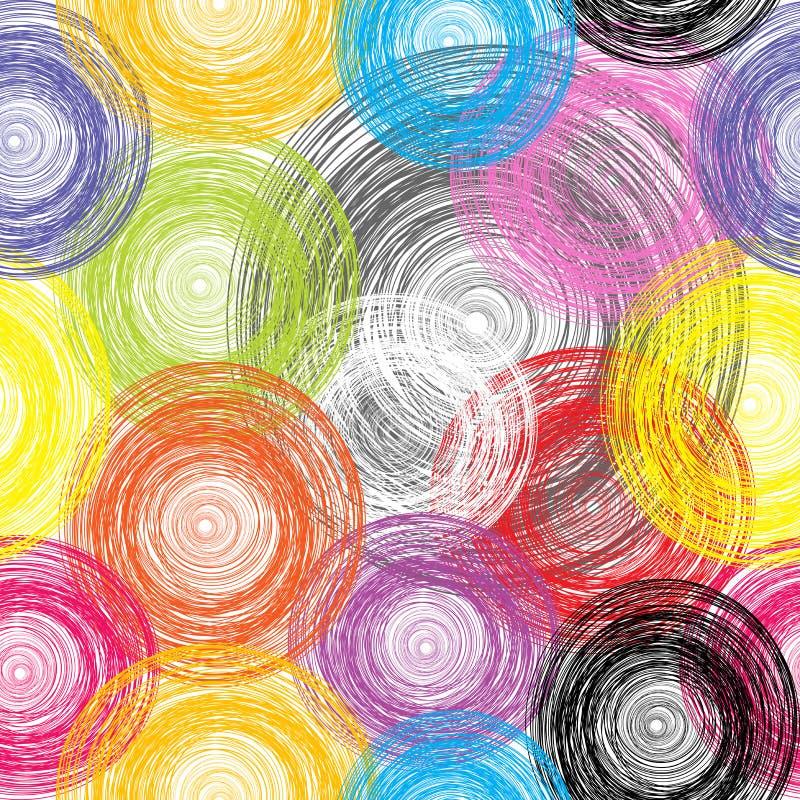 Fondo coloreado inconsútil de las esferas ilustración del vector