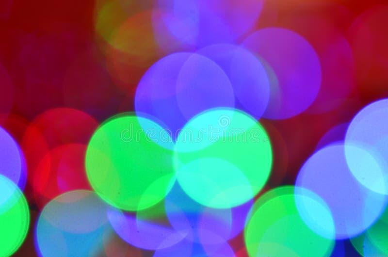 Fondo coloreado mágico del bokeh foto de archivo libre de regalías