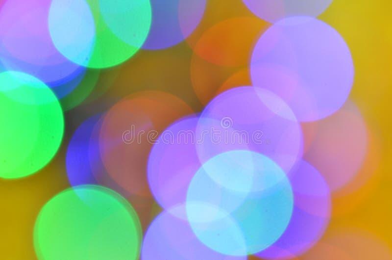 Fondo coloreado mágico del bokeh fotos de archivo libres de regalías