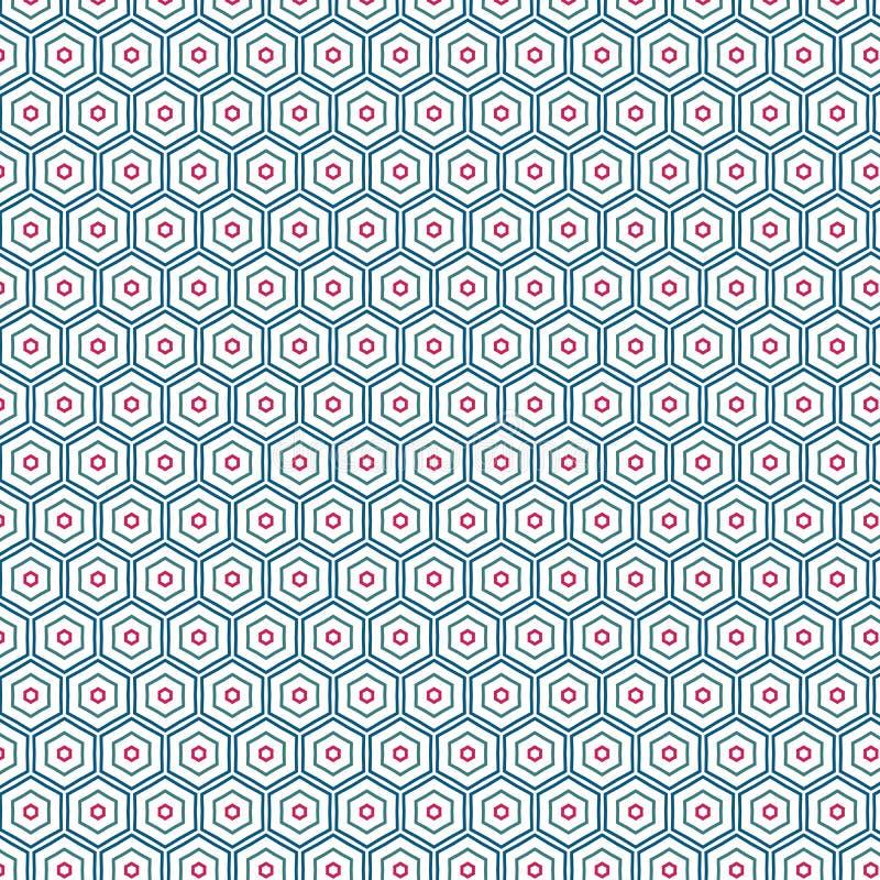 Fondo colorido único hexagonal abstracto del modelo stock de ilustración