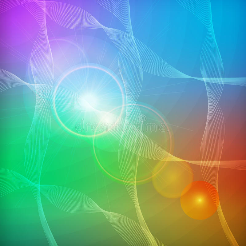 Fondo colorido abstracto ilustración del vector