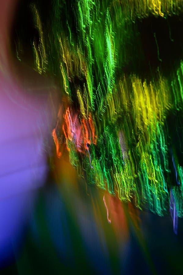 Fondo colorido abstracto Arte digital Luces boreales Foto vertical imagenes de archivo