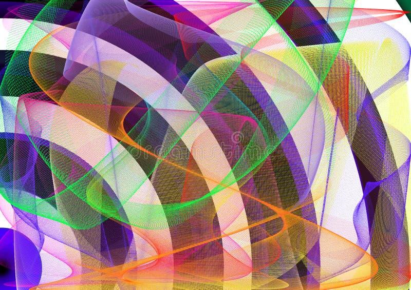 Fondo colorido abstracto con el fichero del vector del remolino waves Backgro abstracto stock de ilustración