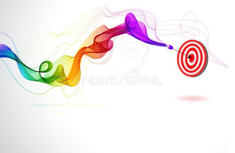 Fondo colorido abstracto con la flecha ilustración del vector