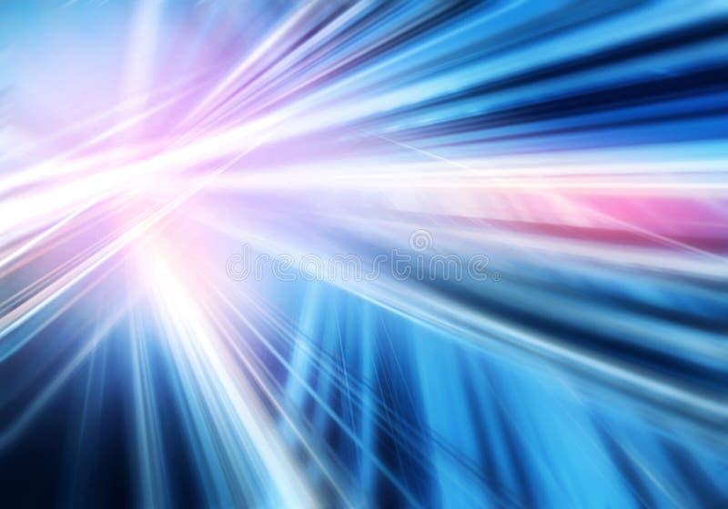 Fondo colorido abstracto con las líneas masivas luminosas entrecruzadas rectas de color del rosa, azul y blanco libre illustration