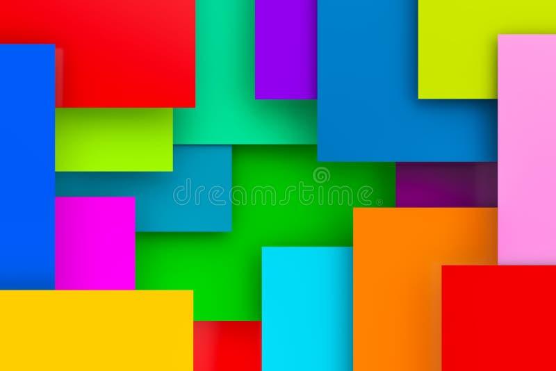 Fondo colorido abstracto, 3D stock de ilustración
