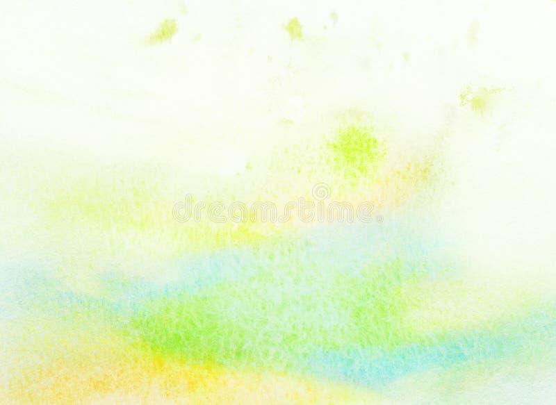 Fondo colorido abstracto de la acuarela del color claro. libre illustration