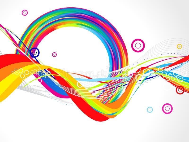 Fondo colorido abstracto de la onda libre illustration