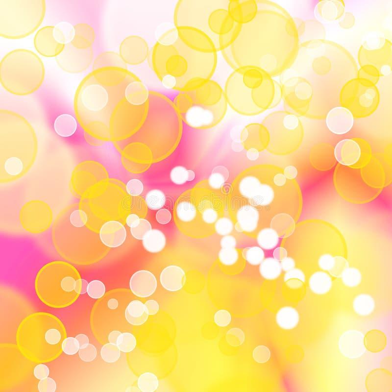 Fondo colorido abstracto de las burbujas libre illustration