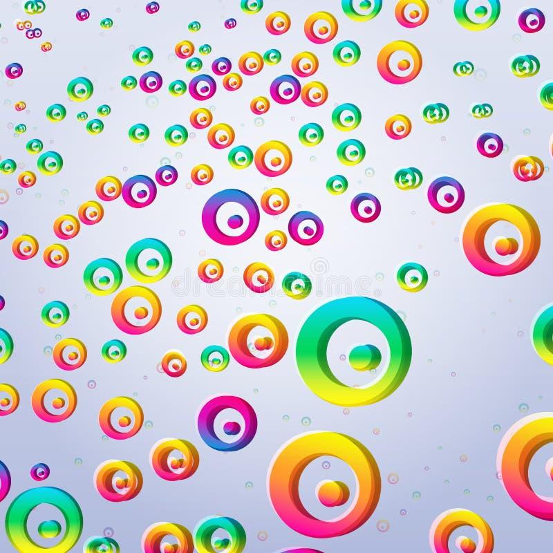 Fondo colorido abstracto de las burbujas stock de ilustración