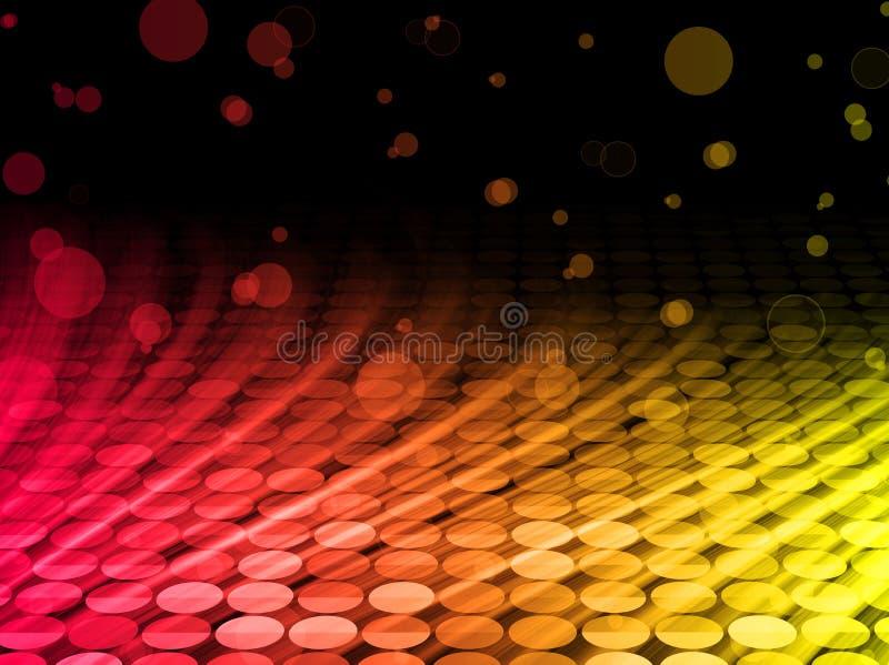 Fondo colorido abstracto de las ondas del disco stock de ilustración