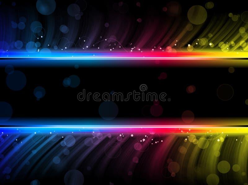 Fondo colorido abstracto de las ondas del disco ilustración del vector
