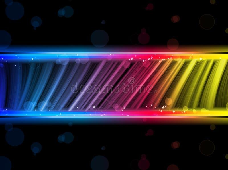 Fondo colorido abstracto de las ondas del disco libre illustration