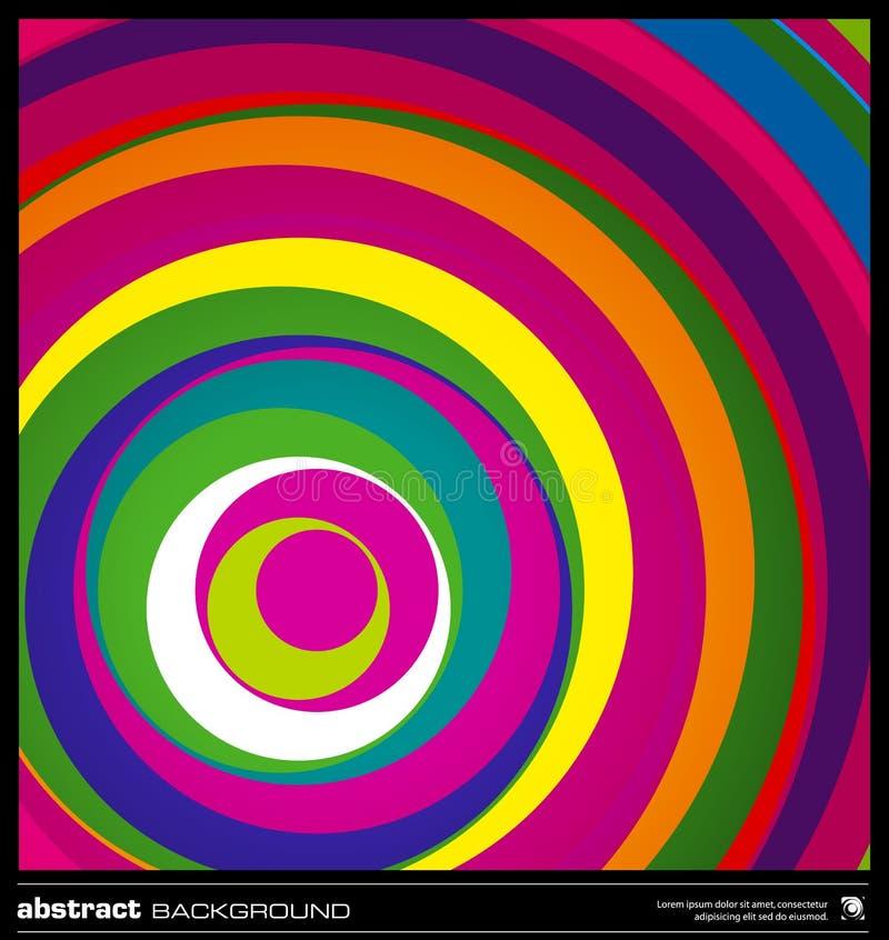 Fondo colorido abstracto de los círculos. ilustración del vector