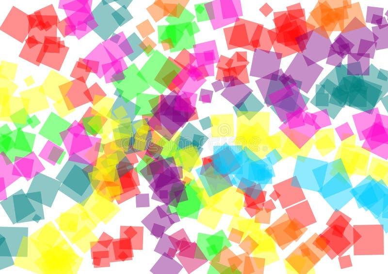Fondo colorido abstracto de los cuadrados libre illustration