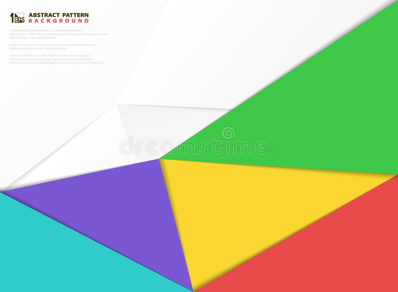 Fondo colorido abstracto de los elementos del diseño del modelo del corte del papel Vector eps10 del ejemplo stock de ilustración