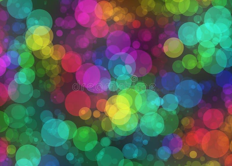 Fondo colorido abstracto del bokeh del día de fiesta de las rondas imagenes de archivo
