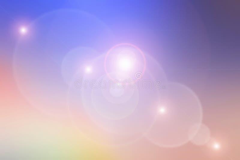 Fondo colorido abstracto del bokeh Llamarada del espacio y de la lente libre illustration