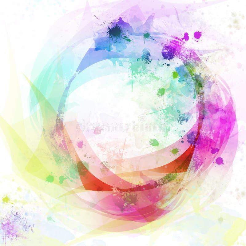 Fondo colorido abstracto del círculo ilustración del vector