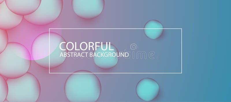 Fondo colorido abstracto del círculo Ilustración del vector stock de ilustración